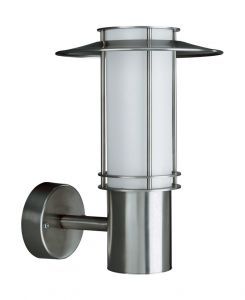 Monaco Wall Lamp 1 Light E27 IP44 Exterior Stainless Steel/Synthetic