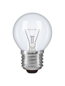 * Golf Ball E27 Clear 25W Incandescent/T (100/10)