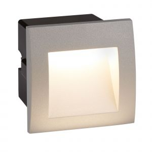 0661GY Ankle LED Indoor/Outdoor Recessed Square, Grey