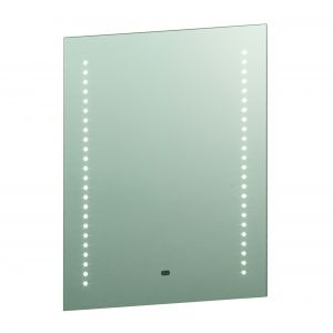 Spegel Single LED Bathroom Mirror Mirrored Glass/Silver Paint Finish
