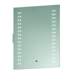 Perle Single LED Bathroom Mirror Mirrored Glass/Silver Paint Finish
