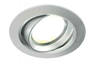 Saxby 14011 Zante Single LED Recessed Downlight Silver Finish