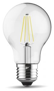 Value Classic LED GLS E27 Dimmable 6.5W Cool White 6000K, 806lm, Clear Finish, 3yrs Warranty