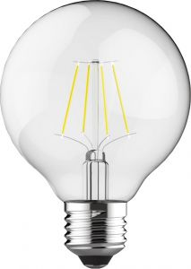 Classic LED Globe D80 E27 6.5W 4000K Natural White 806lm Dimmable Clear Finish 3yrs Warranty