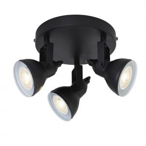 Focus 3 Light Spotlight Black Finish