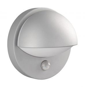 Reno Wall Lamp with PIR 1 Light E27 IP44 Exterior Grey Aluminium/Synthetic
