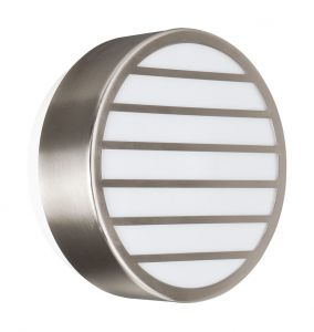 Linz Wall Lamp 1 Light E27 IP44 Exterior Grey Aluminium/Synthetic