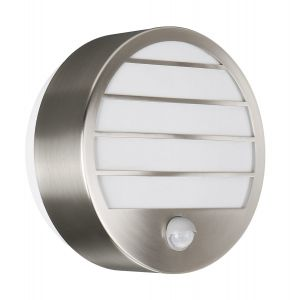 Linz Wall Lamp with PIR 1 Light E27 IP44 Exterior Grey Aluminium/Synthetic