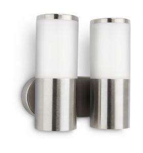 Jasmine Wall Lamp 2 Light E27 IP44 Exterior Stainless Steel/Synthetic
