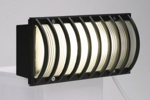 Saxby 1820A Black Recessed Brick Light
