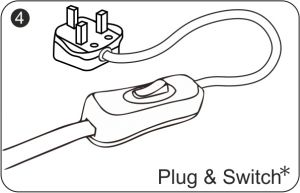Plug & Switch (With 2m Cable, Plug In The Middle Position)