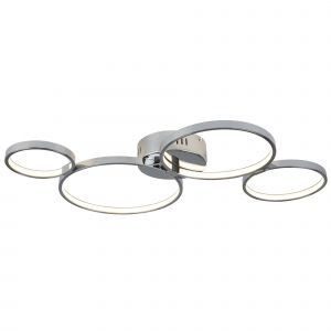 2004-4CC Solexa 4 Ring LED Ceiling Flush, Chrome