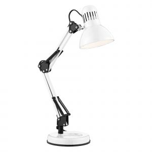 2429WH Desk Partners - Shiny White Hobby Table Lamp