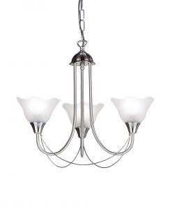 Endon 295-3SC Satin Chrome Fitting Comes With Glass 3 Light In Chrome