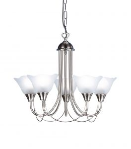Endon 295-5SC Satin Chrome Fitting Comes With Glass 5 Light In Chrome