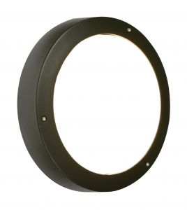 Saxby 3172LB Jet Plain Single Outdoor IP55 Ceiling/Wall Light Black Paint
