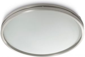 Braid Ceiling Lamp, 1 Light R7S Matt Chrome/Glass