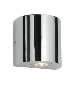 Saxby 35606 Flair Single Bathroom IP44 LED Wall Light Chrome