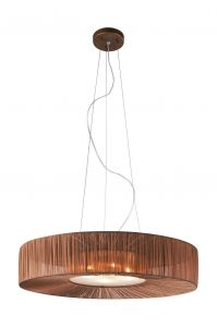 Ernest Single Pendant, 4 Light G9 Brown/Fabric