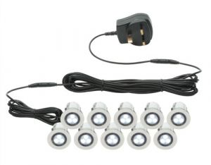 Endon 75530 Kios Outdoor Deck LED Lights Kit Of 10