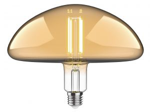 Classic Style LED Type K1 E27 Dimmable 220-240V 4W 2100K, 120lm, Smoke Finish, 3yrs Warranty
