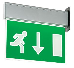Saxby 43798 Muro Single 10W LED Emergency Exit Sign
