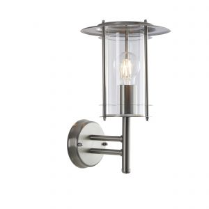 York 1lt Wall Stainless Steel IP44 Exterior Wall Lights