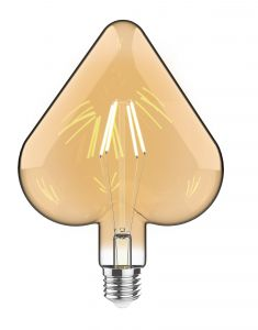 Classic Style LED Tri-Diamond E27 Dimmable 220-240V 4W 2100K, 200lm, Amber Finish, 3yrs Warranty