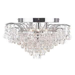 Angelina 3 Light G9 Polished Chrome Flush Fitting With Round Crystals