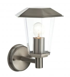Saxby 49884 Seaton Single IP44 Outdoor Wall Light Brushed Stainless Finish