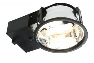 Saxby 51853 Alaska High Frequency & Emergency 2x18W Recessed Downlighter Matt Black Finish