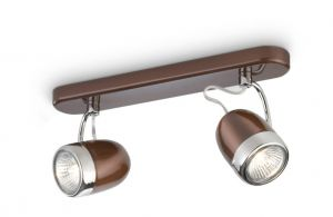 Balsa 2L Spotlight GU10, Brown/Chrome, 2yrs Warranty