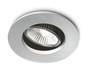 Agena GU10 Recessed Downlighter, Aluminium