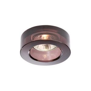 Ara GU10 Recessed Downlighter, Black Glass Surround