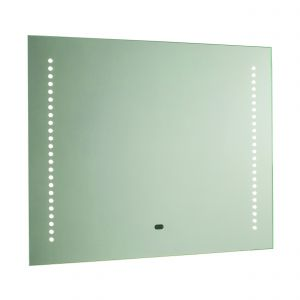 Rift Single LED Bathroom Mirror Mirrored Glass/Silver Paint Finish
