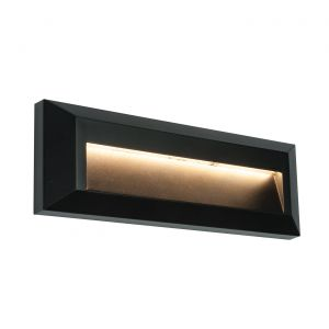 Saxby 61214 Severus Single Outdoor IP65 Brick Light LED Black Finish