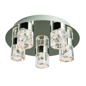 Imperial 5lt LED Flush Bathroom Polished Chrome/Clear Glass Finish