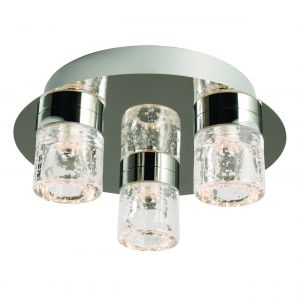 Imperial 3lt LED Flush Bathroom Polished Chrome/Clear Glass Finish