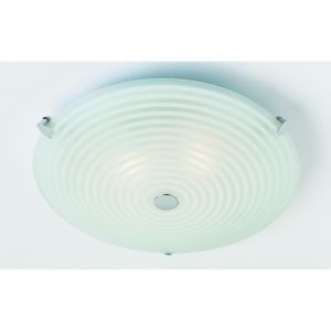 Roundel 2lt Flush White IP20 Traditional Ceiling Lights