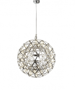 Colbert 1 Light 35W 2623lm Integrated LED Chrome 400mm Adjustable Pendant In A Trianglur Cut Frame 3000K
