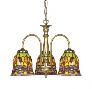 Endon 661-3AN Antique 3-Light Fitting Only ** No Glass 3 Light In Brass