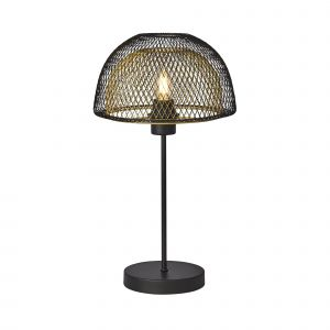 Honeycomb Single Table Lamp Black Outer/Gold Inner Finish
