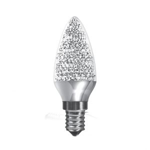 Kaleido LED Candle E14 Dimmable 3.5W Natural White 4000K, 270lm, Chrome Finish, 3yrs Warranty