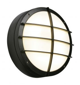 Saxby 7014B Brook 28W Single IP65 Outdoor Wall Light Black Finish