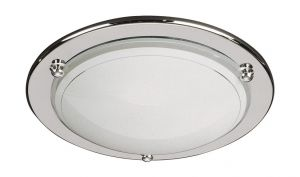 Fergie Ceiling Lamp, 1 Light E27 Chrome/Glass