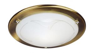 Fergie Ceiling Lamp, 1 Light E27 Bronze/Glass