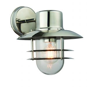 Jenson Single wall Light Polished Stainless Steel/Clear Glass Finish