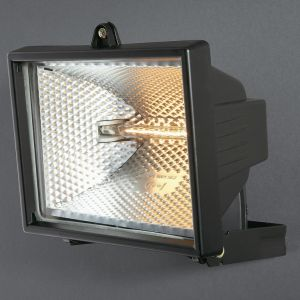 Faro Wall Lamp 500w Floodlight 1 Light IP44 Exterior Black Aluminium/Glass