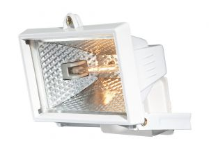 Faro Wall Lamp 150w Floodlight 1 Light IP44 Exterior White Aluminium/Glass