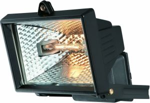 Faro Wall Lamp 150w Floodlight 1 Light IP44 Exterior Black Aluminium/Glass